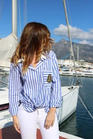 CAMISA BLUE & WHITE